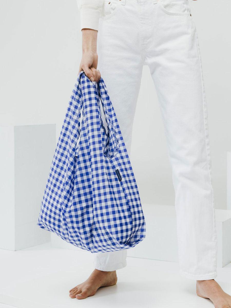 Einkaufsbeutel Gingham Blue