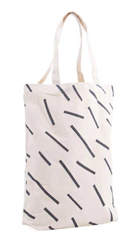 Shopper Baumwolle Handdrawn Stripes Black