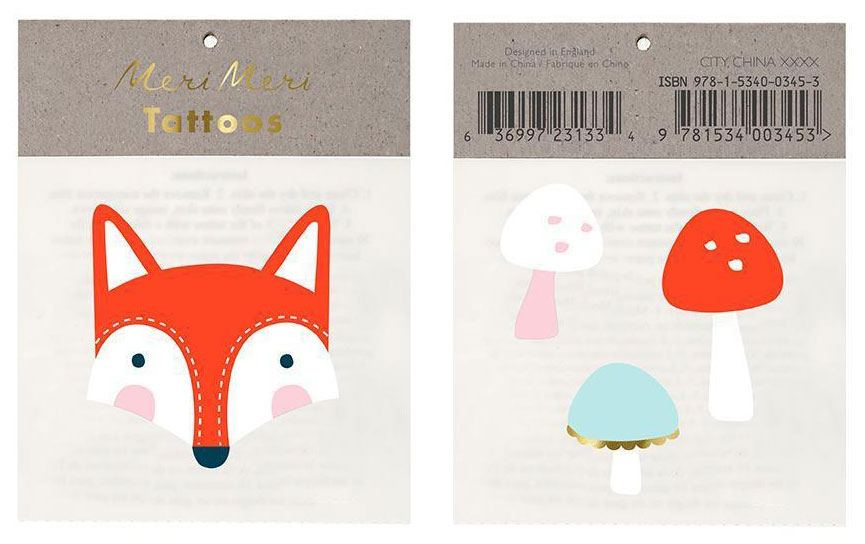 Fox & Mushroom Tattoos