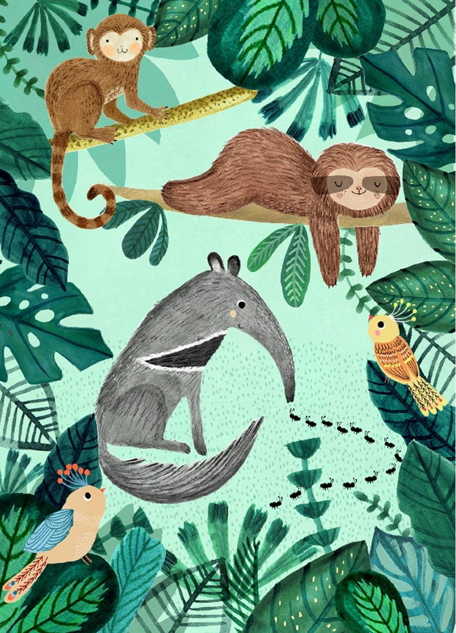 Anteater & Sloth Poster (50x70cm)