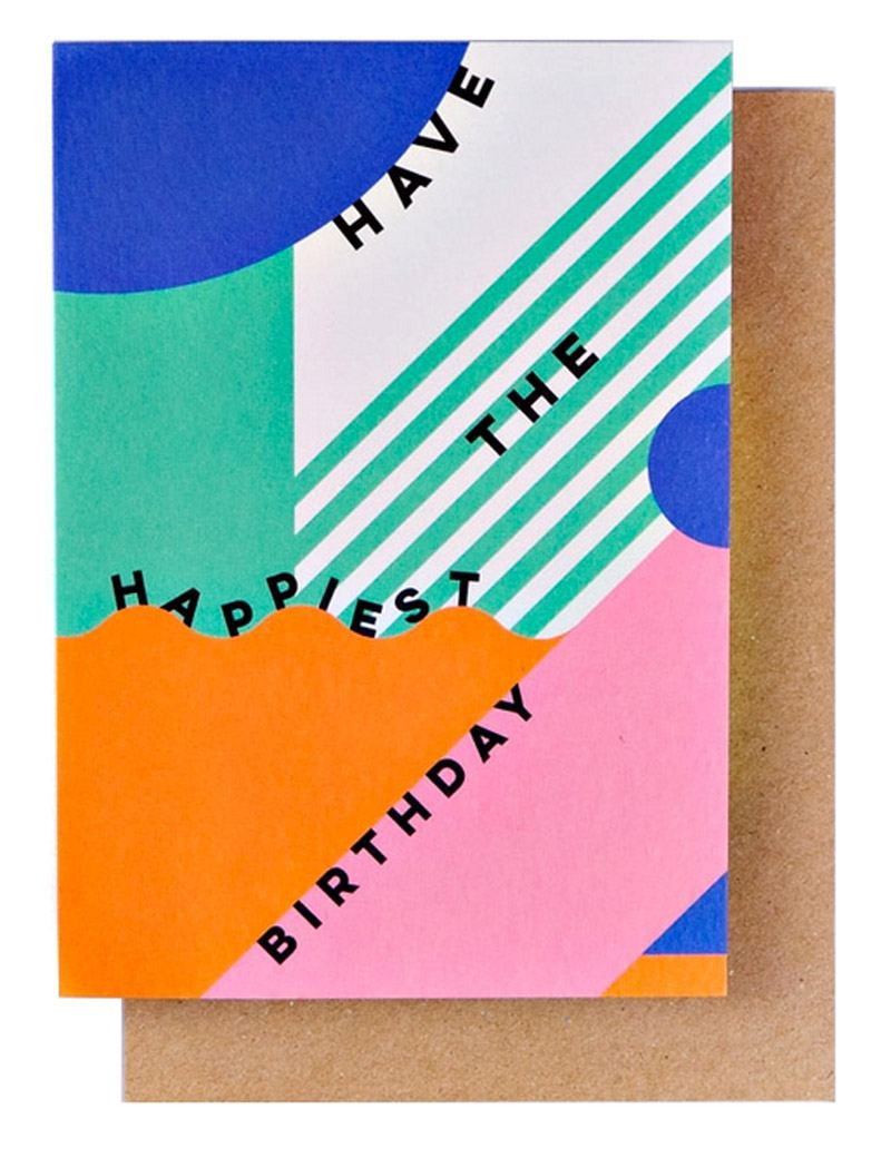 Miami Happiest Birthday Klappkarte