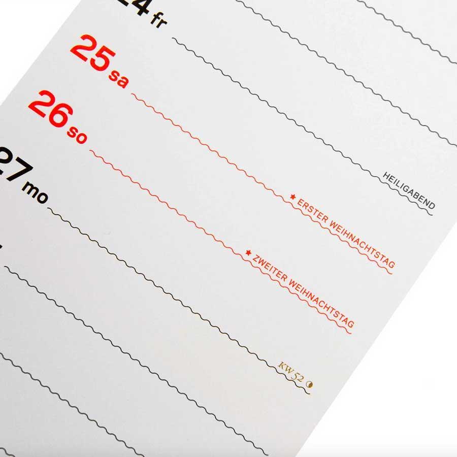 Rikiki Streifen Kalender 2021 (NUR ZUR ABHOLUNG)