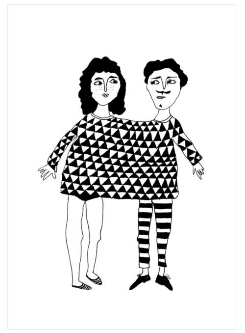 Happy together Postkarte