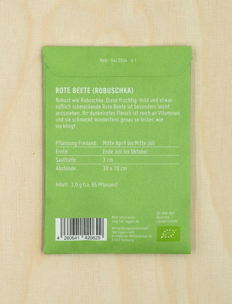 Rote Beete Robuschka, Bio-Saatgut