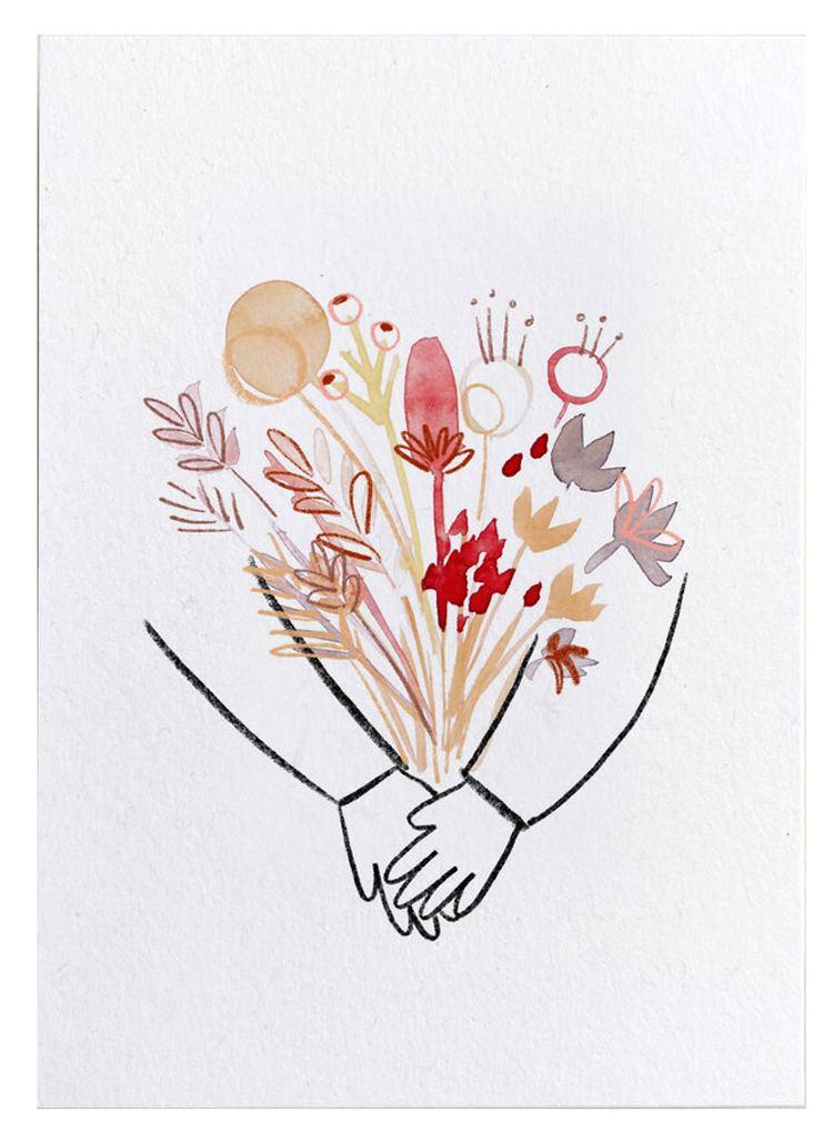 Blumenumarmung Postkarte