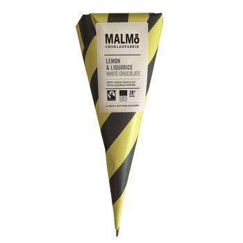 Malmö Weiße Schokolade mit Lakritz und Zitrone