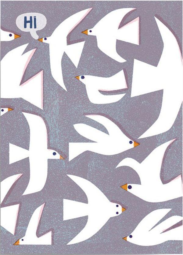 Hi Birds Postkarte