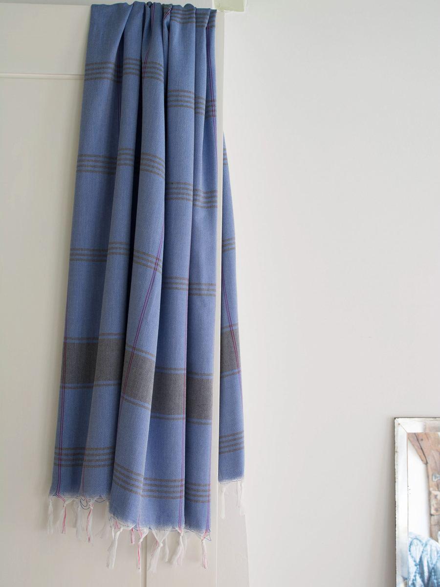 Hamamtuch (Bio Baumwolle) Greek Blue Dark Blue