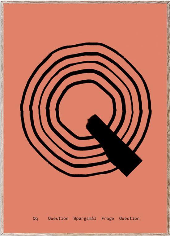 Q - Alphabet Spaghetti Letter Print (Din A5)