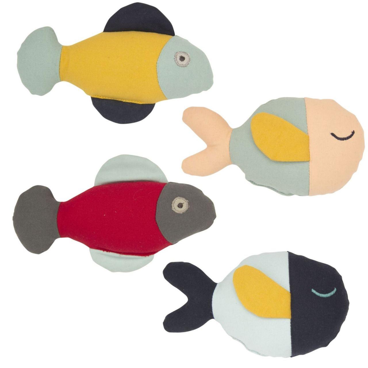 Rassel Fische (div. Farben)
