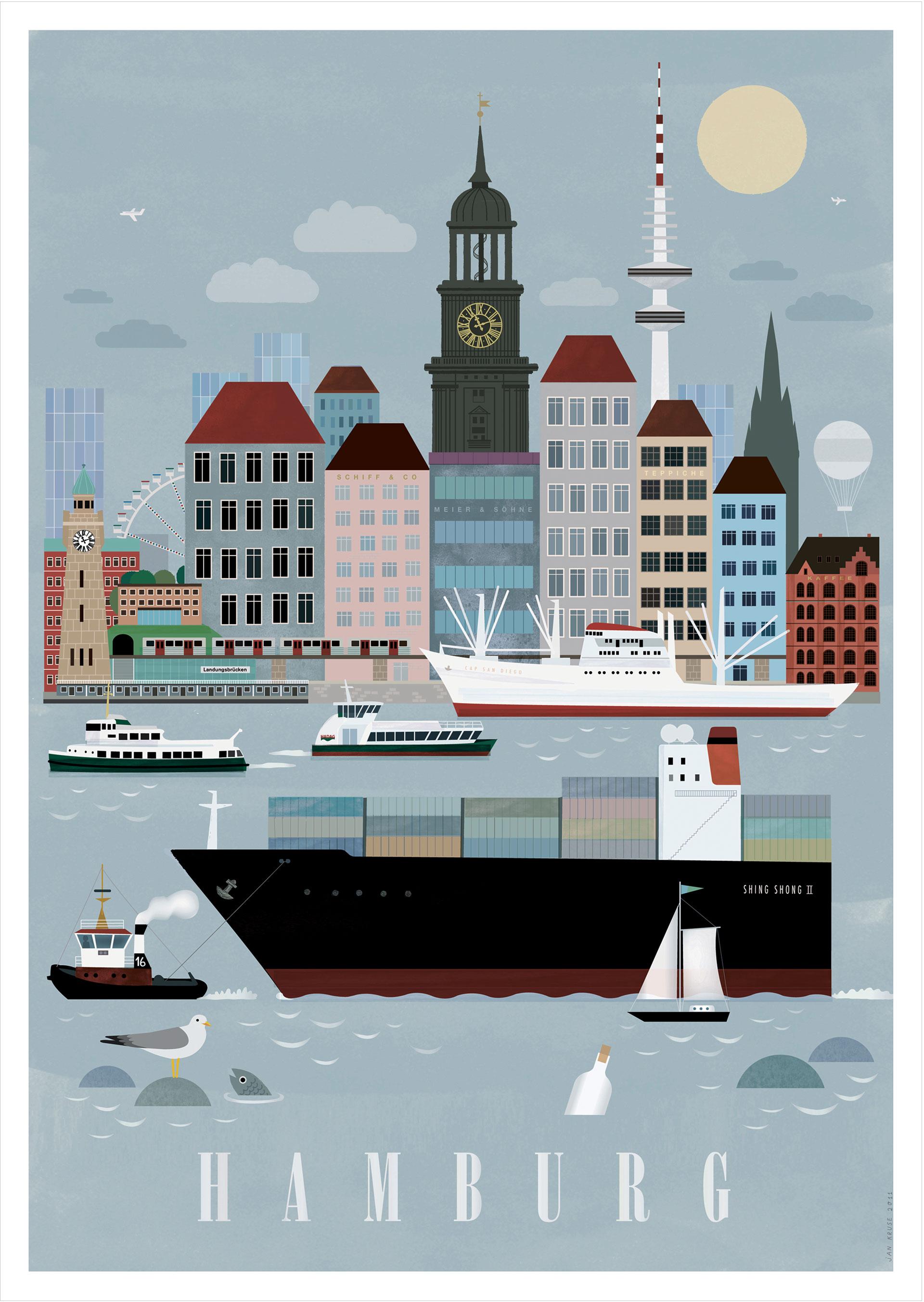 hamburg city poster human empire studio human empire shop. Black Bedroom Furniture Sets. Home Design Ideas