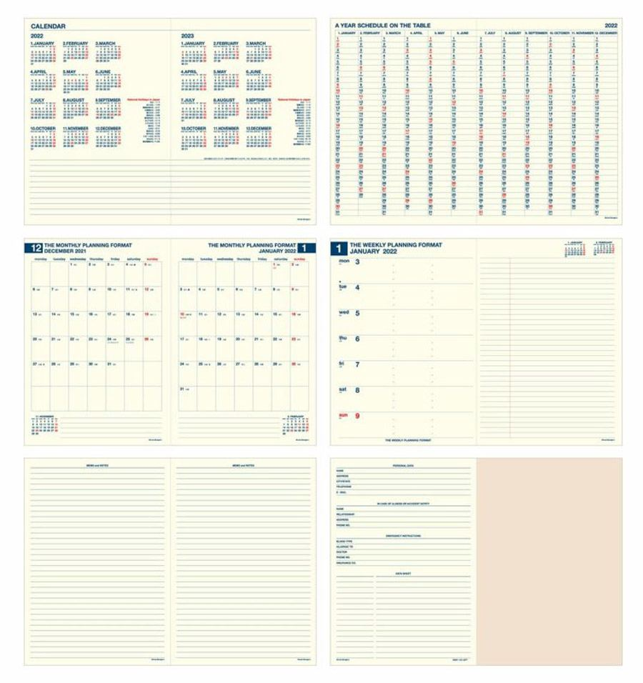 2022 Diary Minute Manager A5 Navy