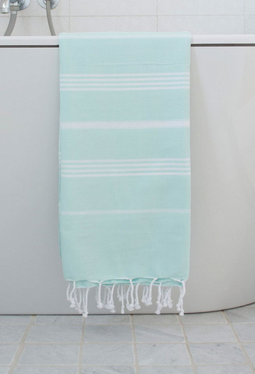 Hammam Tuch Mint White