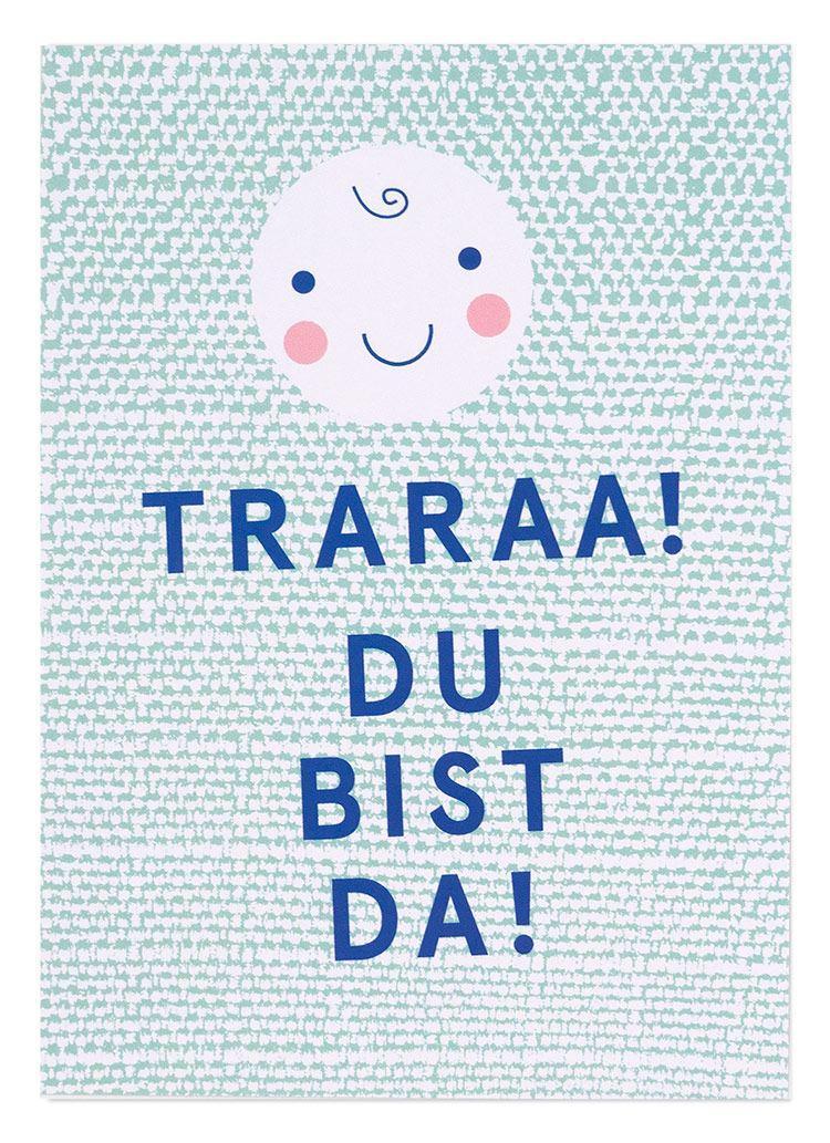 Traraa! Du bist da! Postkarte