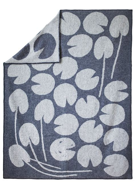 Water Lilies Decke Dunkelblau