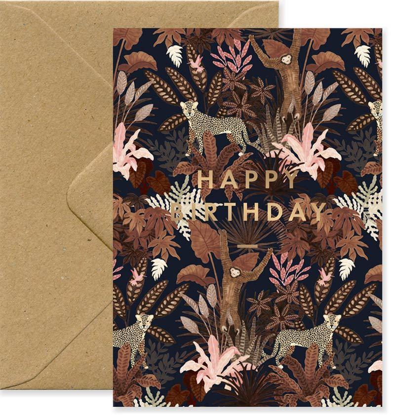 Birthday Monkey Karte