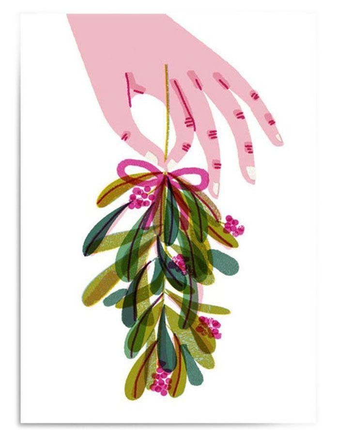Mistletoe Postkarte
