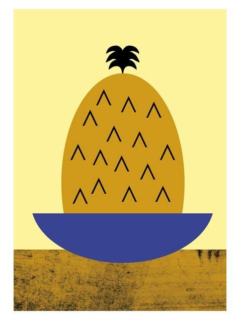 Pineapple Print A3