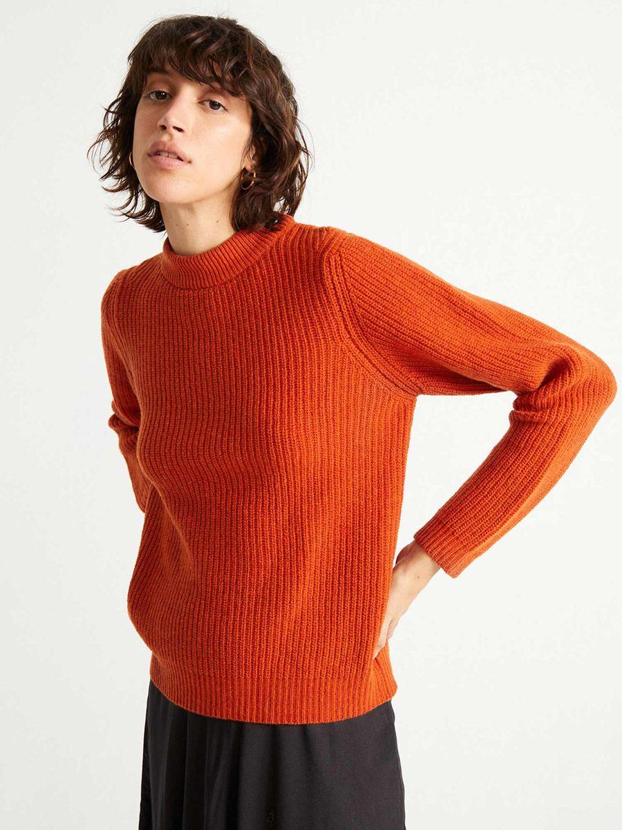 Hera Strickpullover Orange