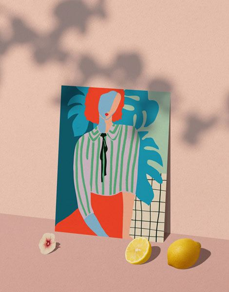 La Dame au Monsteras Poster (Din A4)