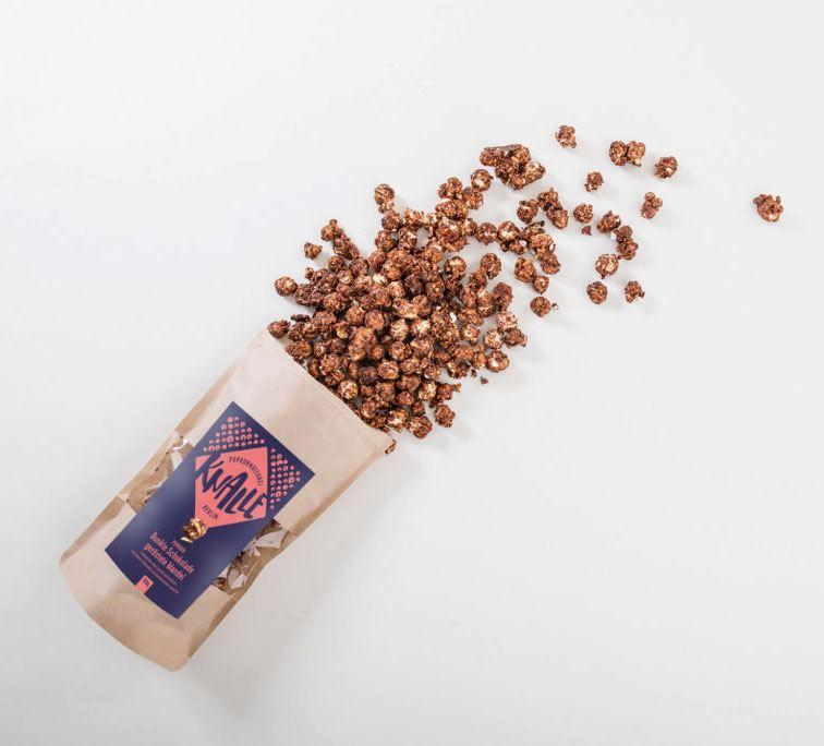 Popcorn Dunkle Schokolade-Geröstete Mandel