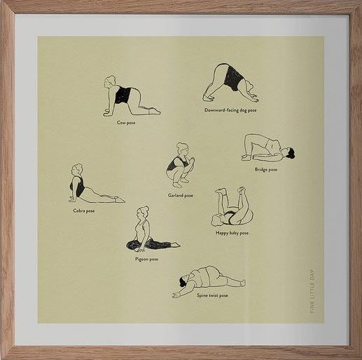 Yoga Poster (40 x 40cm)
