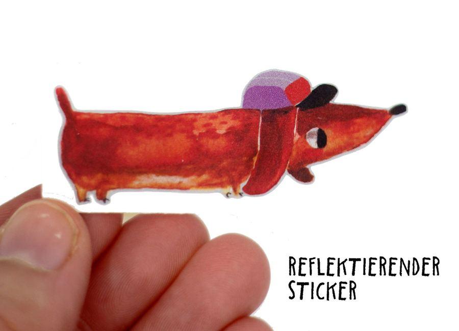 Sticker Dackel Detlef, reflektierend - 3er Set