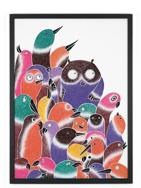 Bird Friends Poster (50 x 70 cm)