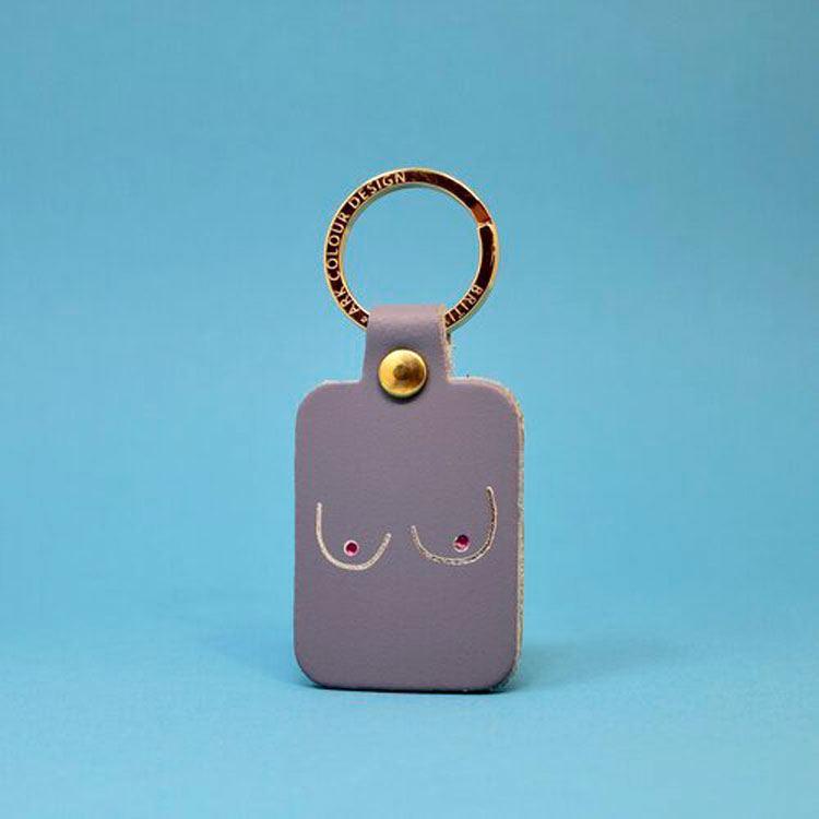 Boobs Schlüsselanhänger Lilac Grey