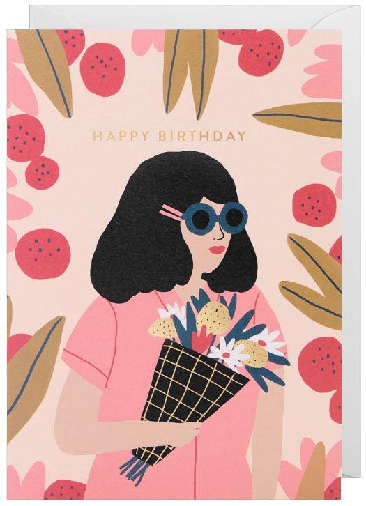 Happy Birthday Klappkarte (No. 6338)