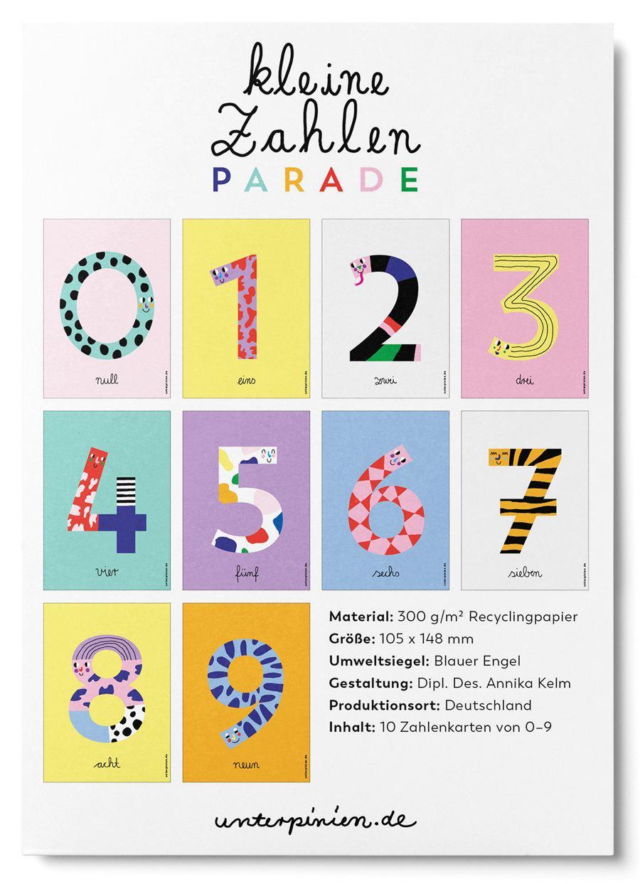 Sechs Postkarte