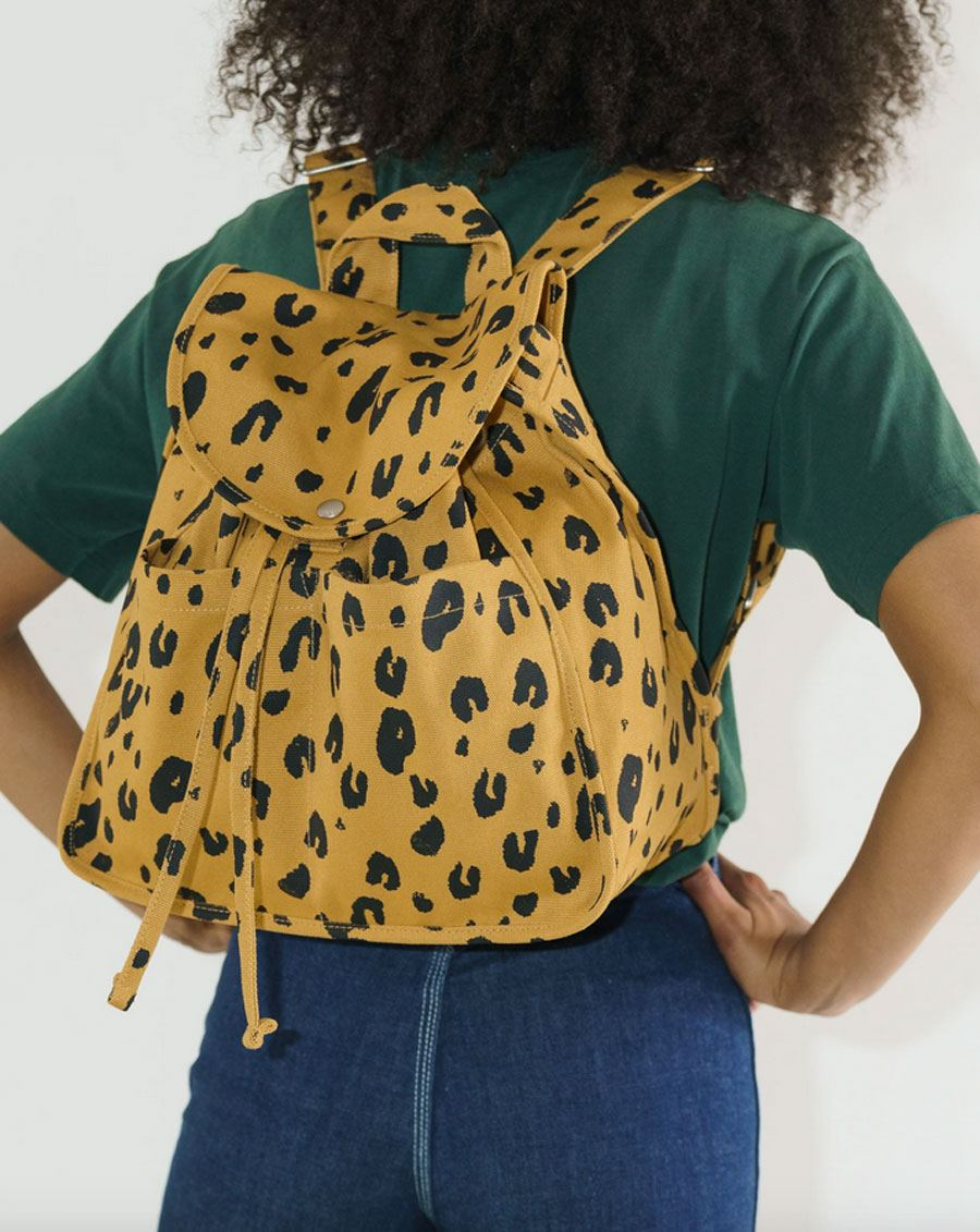 Drawstring Backpack Leopard