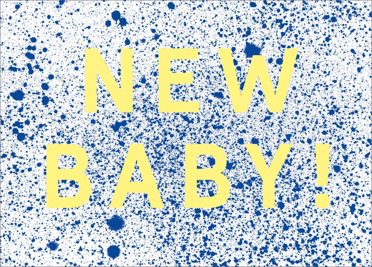 Sprenkel New Baby Postkarte