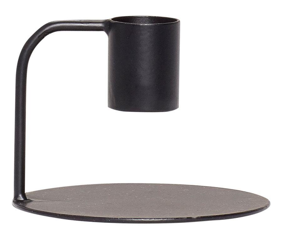 Kerzenhalter Metall Schwarz