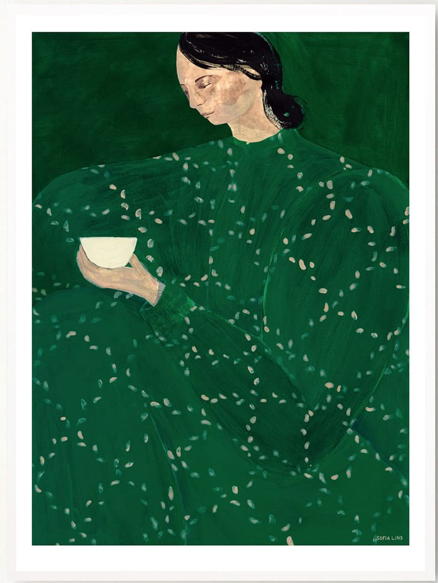 Coffee Alone At Place De Clichy Poster (50x70cm)