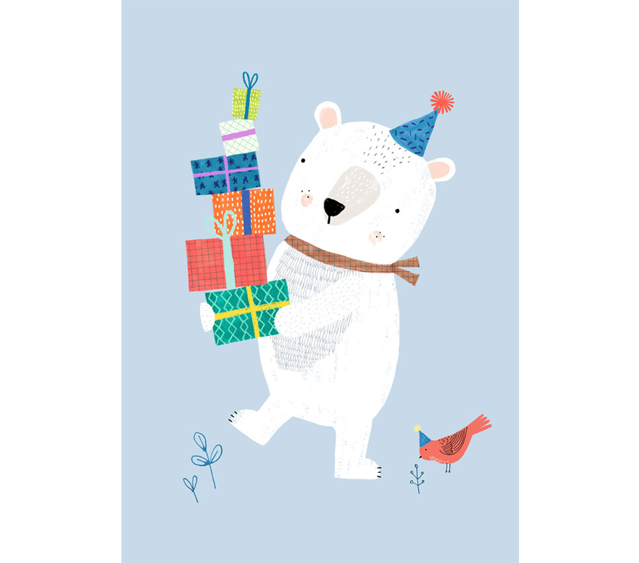 Polar Bear Postkarte
