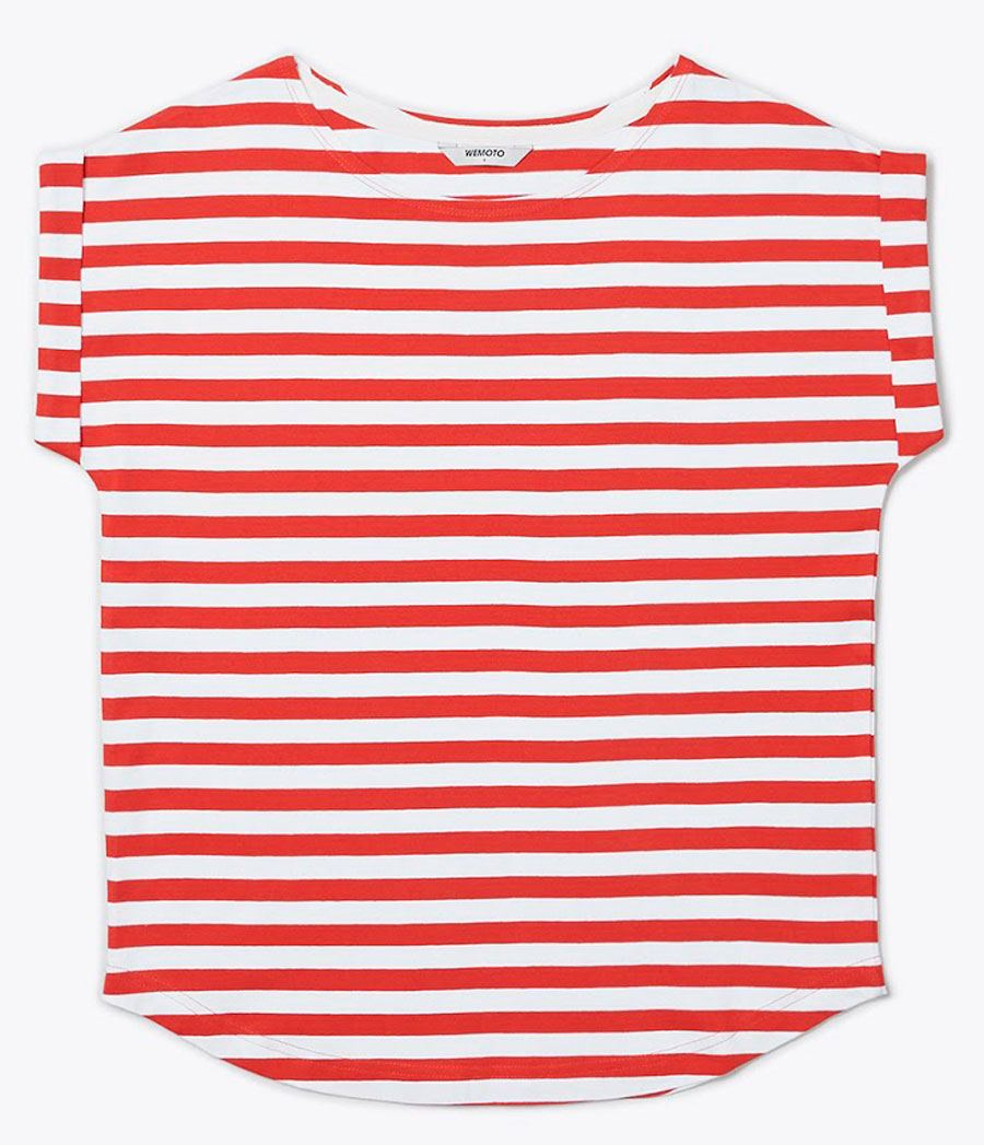 Bell Shirt Red White
