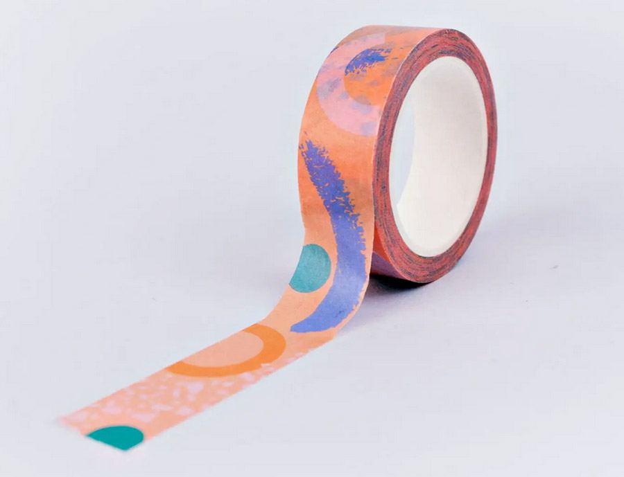Pink Memphis Brush Washi Tape
