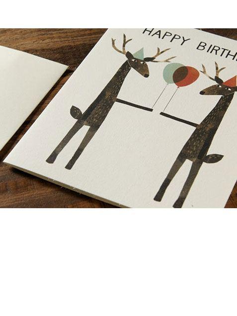 Party Deer Klappkarte