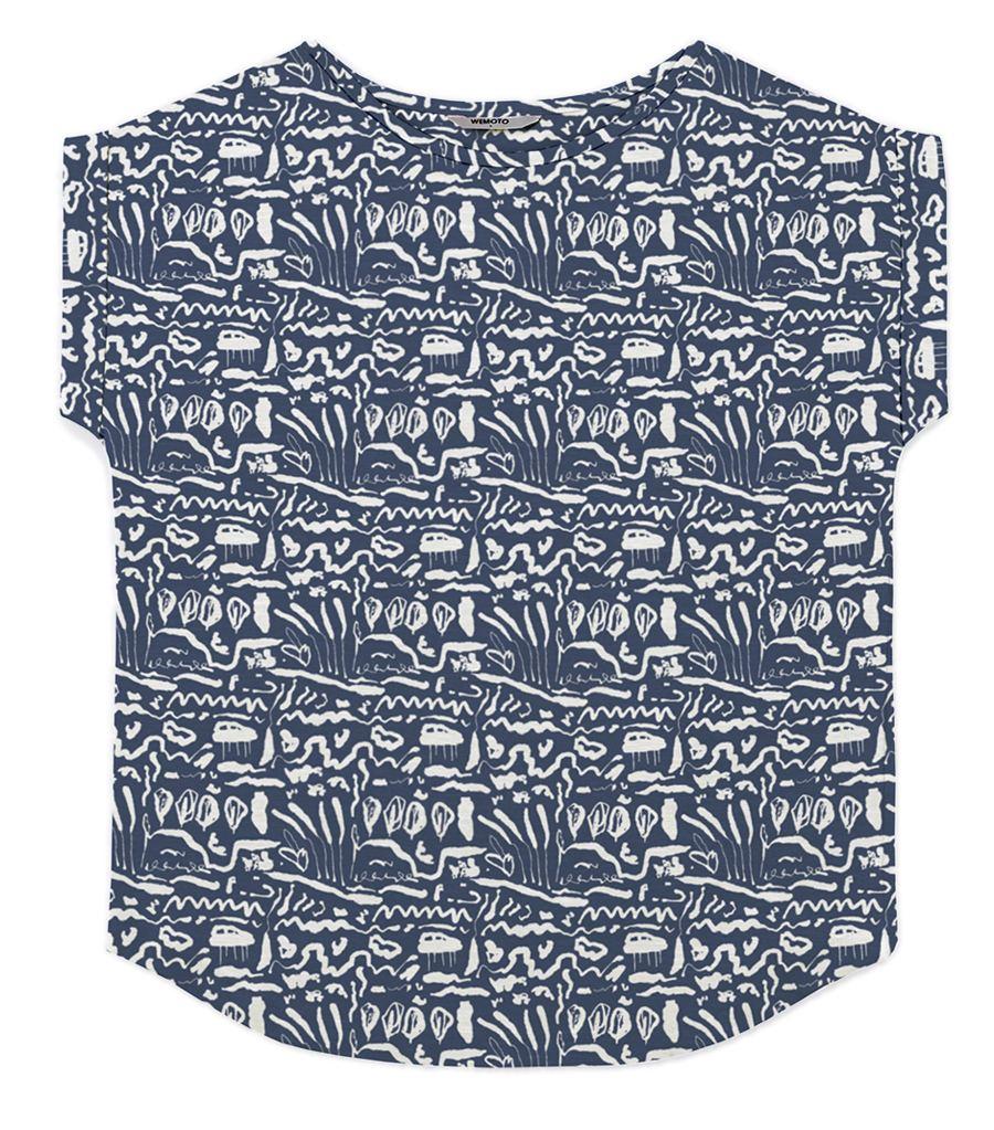 Holly Shirt Printed Blue
