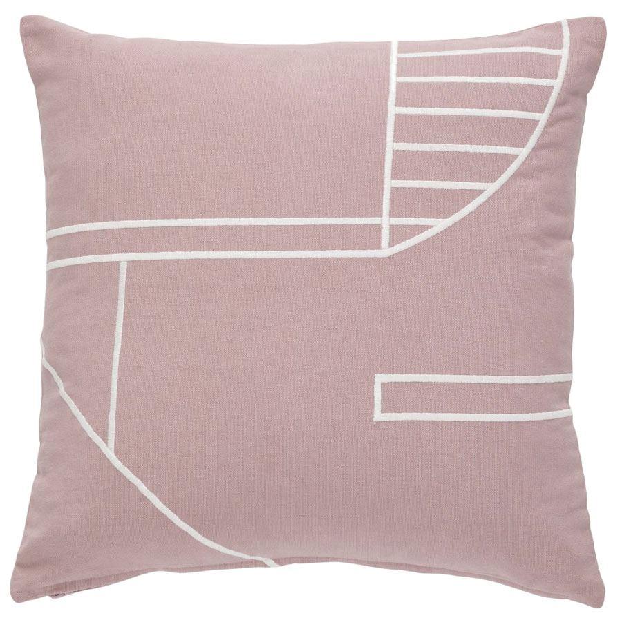 Kissen Baumwolle Pink Weiß