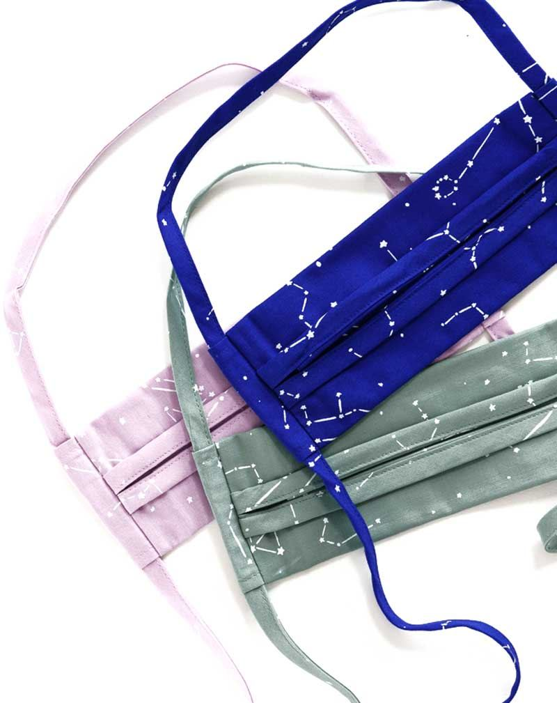 Baggu Mundschutz-Maske Constellation 3er Set Tie (Bio Baumwolle)