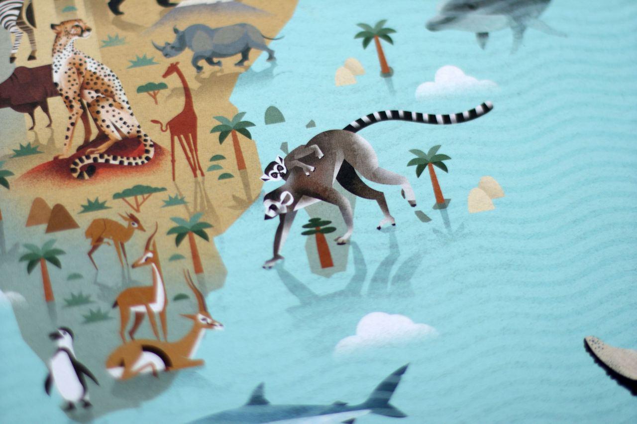 Die Welt der Tiere Weltkarte