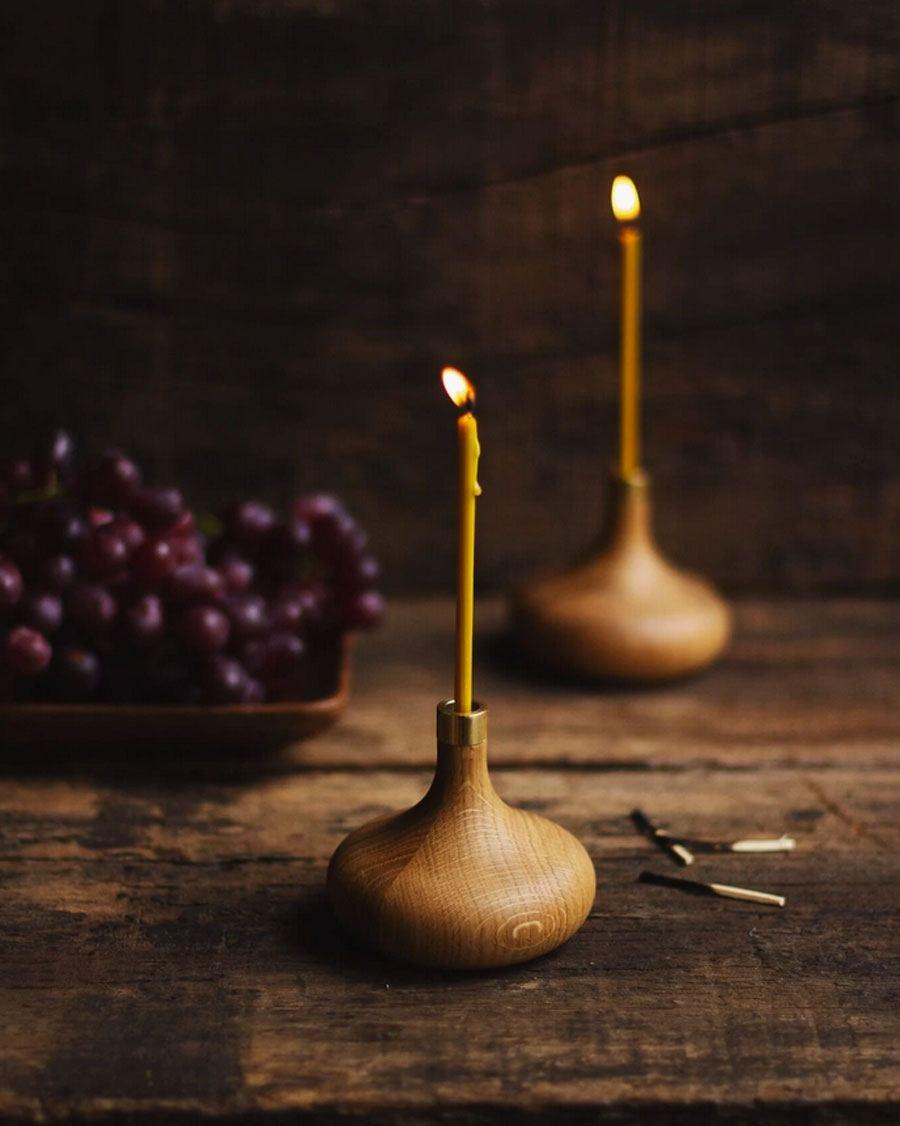 OVO Things Oak Candle Holder