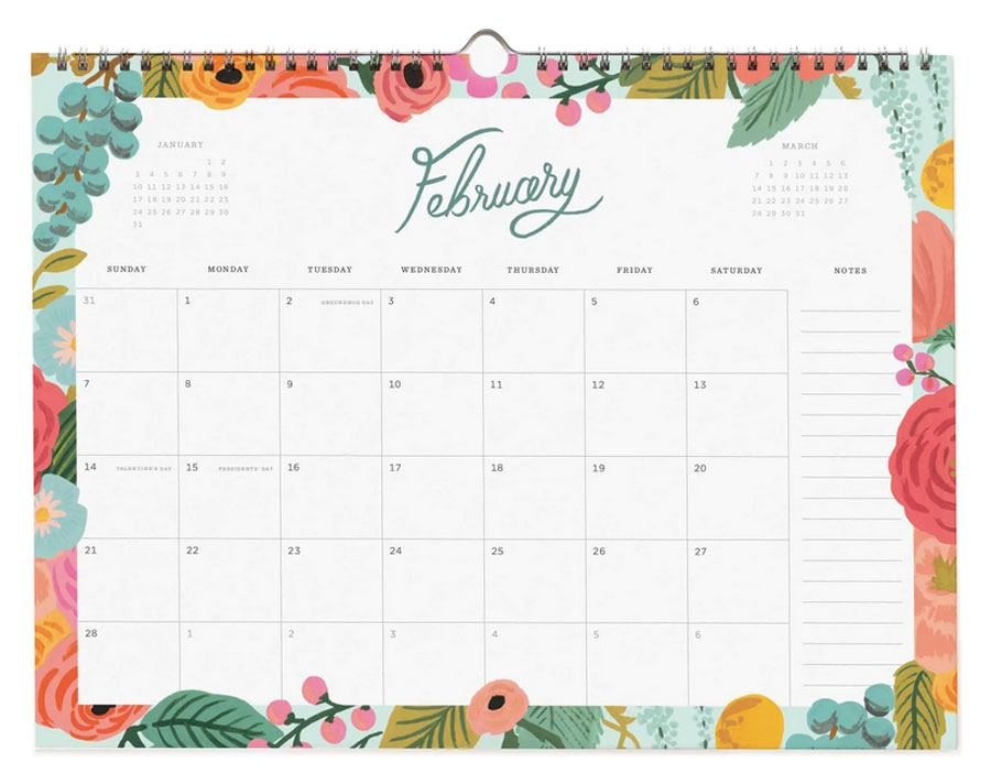2021 Appointment Calendar Garden