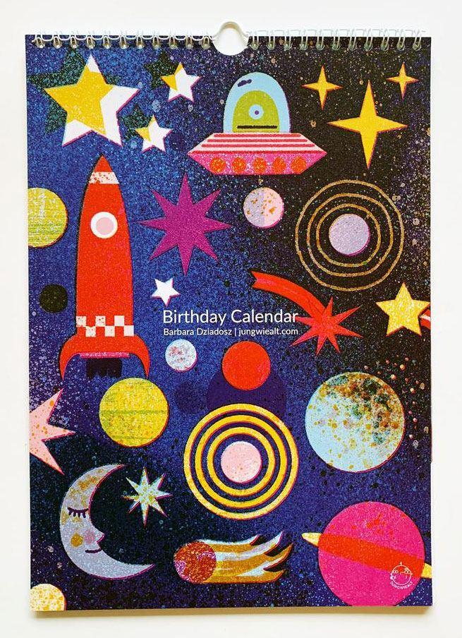 Geburtstagskalender Outer Space
