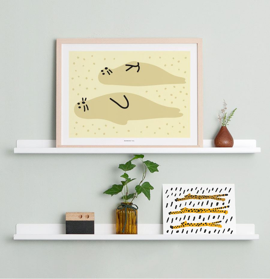 Seal Friends Poster (30x40cm)