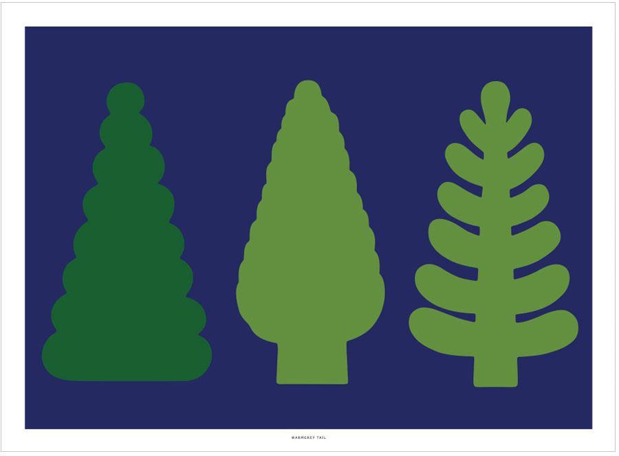 Tree & Tree Poster (30x40cm)
