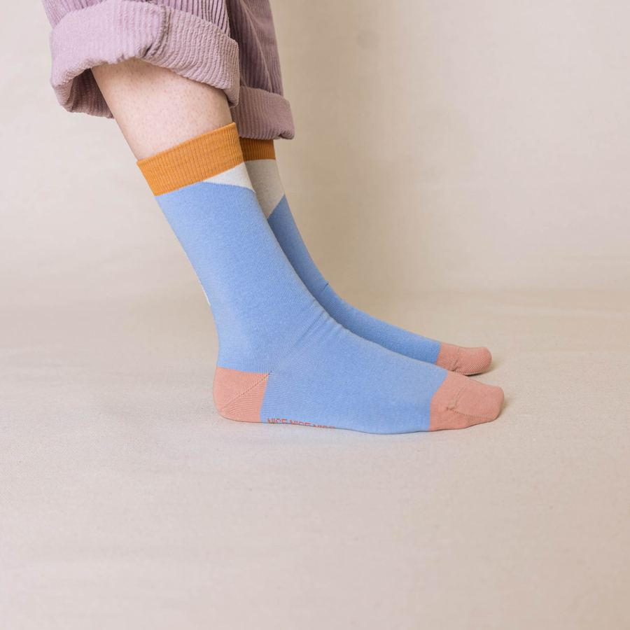 Nice Socks Diagonal Lilac