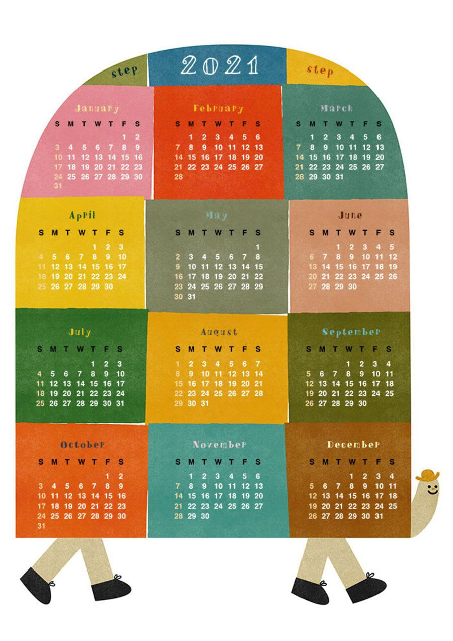 2021 Wandkalender Patchy Steps (42 x 59,4cm)